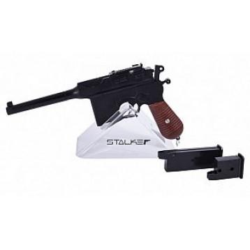Пистолет пневм. Stalker SA96M Spring (аналог Mauser C96), к.6мм, мет.корус