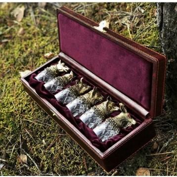 Шкатулка с 6 стопками в подарочном исполнении