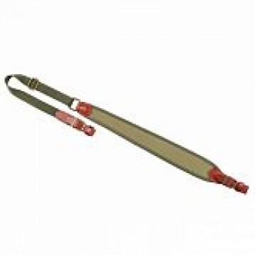 VEKTOR ремень ружейный регулируемый, натуральная кожа, неопрен, полиамидная лента шириной 20мм корич