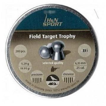 Пульки HN Field Target Trophy кал. 6,35мм, 1,3г (200 шт./бан.)