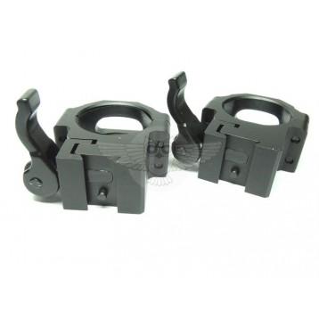 Кольца  Leapers UTG 30 мм быстосъемные на 11 мм с зажимом, средние RQ2D3154