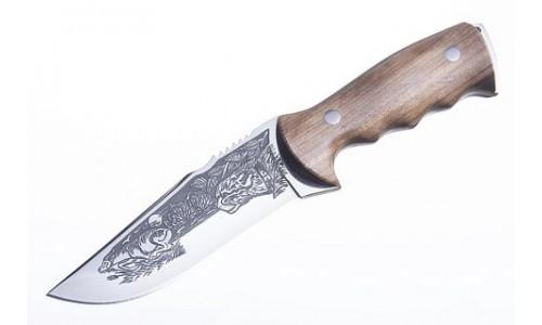 """Кинжал охотничий """"Хазар"""" клинок коррозионностойкая сталь, рукоять дерево (ПП Кизляр)"""