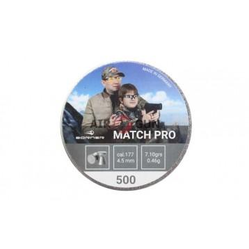 Пули Borner Match Pro кал. 4,5 (500шт) 0,46 гр