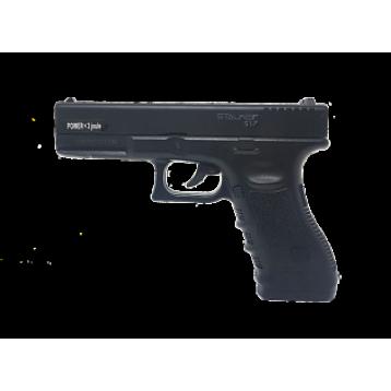 "Пистолет пневм. Stalker S17 (аналог ""Glock17"") к.4,5мм, пластик, 120 м/с, черный"