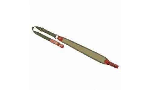 VEKTOR ремень ружейный регулируемый, натуральная кожа, неопрен, полиамидная лента коричневый