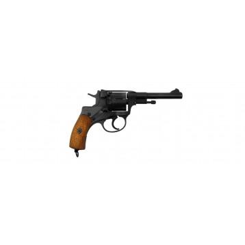 Револьвер списанный охолощенный системы Наган Р-412 кал. 10ТК патр.светозв.действия 01404