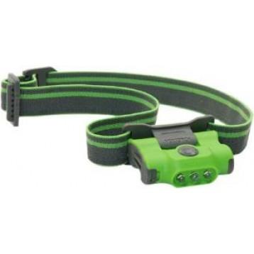 Фонарь налобный ECO-STAR (Зеленый) светодиодный, 30 люмен, 4 режима работы