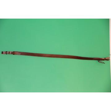 Ремень ружейный кожаный с подстрочкой полиамидно-резиновая лента, шир. 35 мм (ZIMMERMAN 2-17)