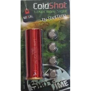 Лазерный патрон ShotTime ColdShot кал. 12, материал - латунь, лазер - красный, 655нМ