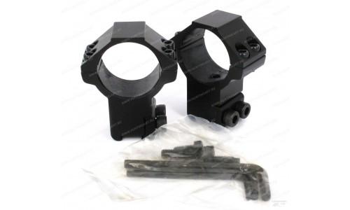 Кольца  Leapers AccuShot 30 мм для установки на оружие с призмой 10-12 мм высокие 30Н4