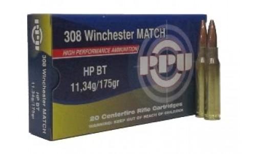 Патрон калибр 308 Win PPU пуля Match HP ВТ 12 г (20 шт)