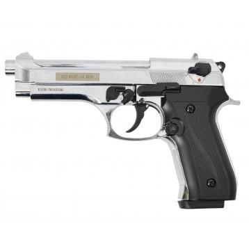 """Оружие списанное охолощенное пистолет """"В92-KURS"""" кал. 10ТК ; хром"""