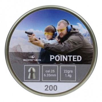Пули Borner Pointed кал.6,35 (200шт) 1,4 гр