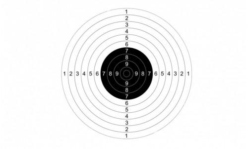Мишень №9 для пневматики 170х170мм, картон М№9п