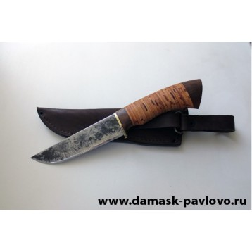 Нож Лань сталь 9ХС, стаб к/б, гарда мельхиор (ИП Марушин А.И., г.Павлово )