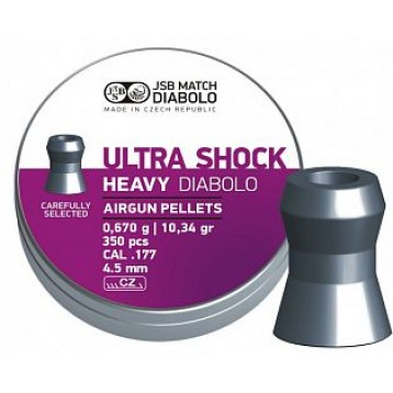Пульки JSB Ultra Shock Heavy кал. 4,52 мм 0,67 г (350 шт./бан.)