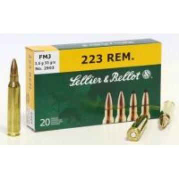 Патрон калибр 223REM S&B FMJ 3,6 гр об (20 шт)