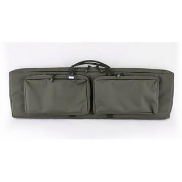 """Кейс из капрона зеленый  с креплением оружия сист. """"молле"""" с двумя карманами VEKTOR  А-9-1ч з"""