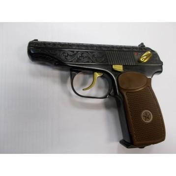 Пистолет МР 654К-20 до 3,0 Дж нитрид титана, обронная гравировка (в кейсе) 84264