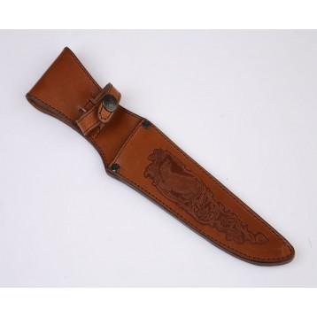 Чехол для ножа средний (длина под лезвие 18см) кожа ЧН-2 3Л