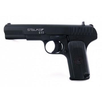 """Пистолет пневм. Stalker STT (аналог """"ТТ"""") к.4,5мм, металл, 120 м/с, черный, картон.коробка"""