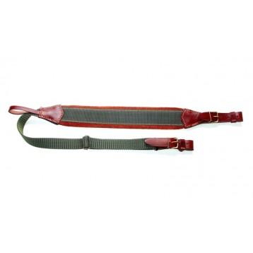 VEKTOR Ремень для ружья комбинированный из натуральной кожи и синтетической ткани с регулировкой дли