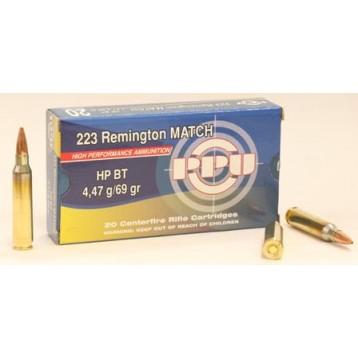 Патрон калибр 5.56х45 (223 Rem) PPU Match HP BT 4,47г А-399