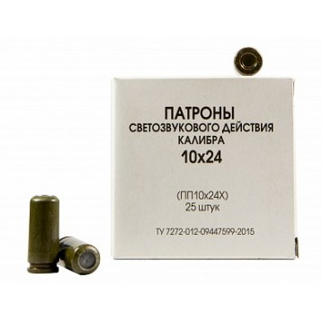 Патрон калибр 10х24 светозвуковой (20 шт) Техкрим