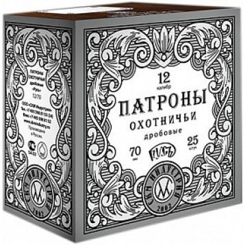 """Патрон калибр 12х70, 33гр.""""Русь"""" №""""5"""" бк (25 шт) СКМ"""