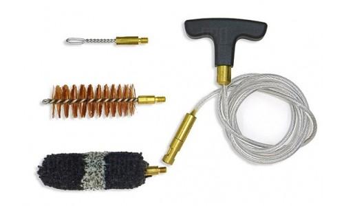 Nimar - Набор для чистки оружия с гибким шомполом, вишером и 2 ершиками, 20 калибр