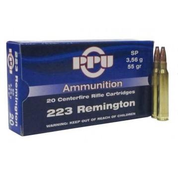 Патрон калибр 223REM SP тип пули Soft Point PPU (20 шт)