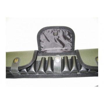 Патронташ закрытый 25 патронов 12,16,20к с газырями и ремнем из натуральной кожи (Циммерман 3-47)