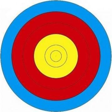 Мишень лучная 40см - 5 колец. Диаметр мишени 40 см, 120г/м