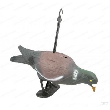Чучело голубя с лапами на опоре 7817