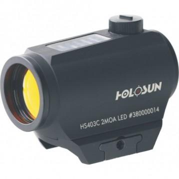 Коллиматор Holosun Micro на  Weaver/Picatinny + солн.бат. + кронш., точка 2МОА HS403С
