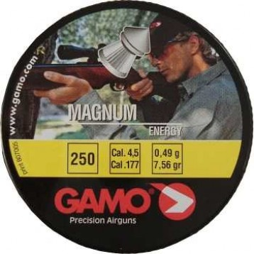 Пули GAMO Magnum (250шт)  0,49 гр кал. 4.5