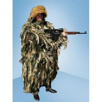 Плащ маскировочный КИКИМОРА для охоты на гуся лыко, бахрома (С206/11)  (МАПКФ Зонт)